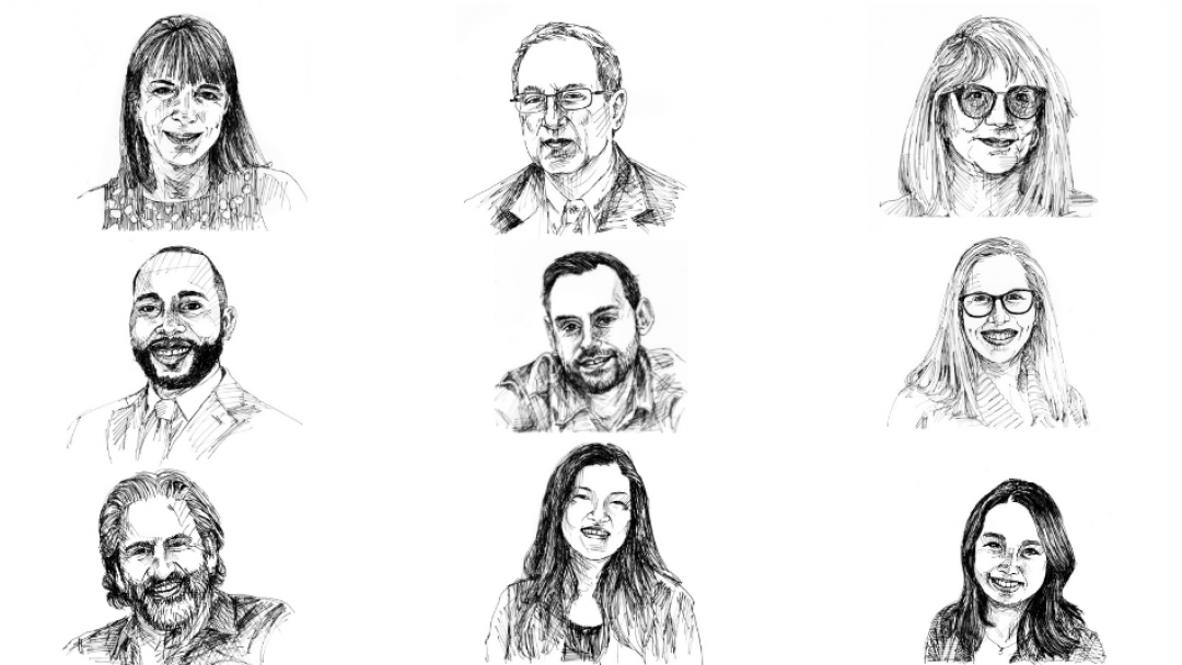 Nine faculty members among hundreds featured in voting art project