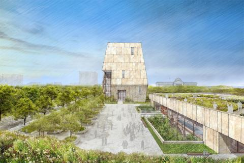 View of Plaza, Obama Presidential Center: Courtesy Obama Foundation