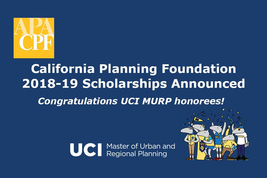 CPF Scholarships Congratulations UCI MURP Honorees